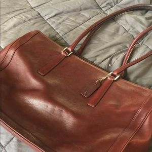 Vintage Coach All Leather Overnight Bag 2001